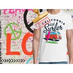 Tee-shirt imprimé Biker USA Flag