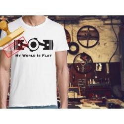 Tee-shirt My World is Flat
