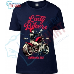 tee-shirt lady biker