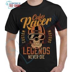 tee-shirt Cafe Racer Legend Never Die