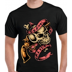 tee-shirt skull death or alive