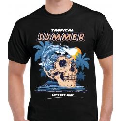tee-shirt Skull Surfer
