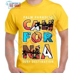 tee-shirt Palm Paradise Calidornia
