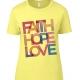tee-shirt matrice Faith Hope Love