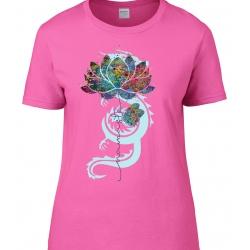 tee-shirt Coupe Femme Namaste Fleur de Lotus
